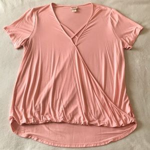 Mossimo light pink short sleeve top